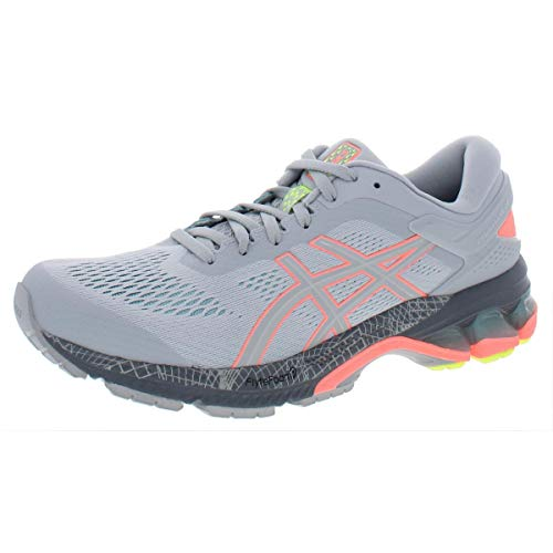 ASICS Women's Gel-Kayano 26 LS Running Shoes, 7M, Piedmont Grey/Sun Coral