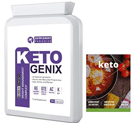 Keto GENIX Natural Advanced Weight Loss + 7 Days Meal Plan eBOOK - Burn Belly Fat (1 Month Supply) - SUPPLEMENT PARADISE