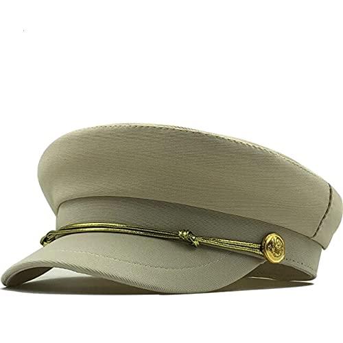 Otoño Octagonal Sombreros Para Las Mujeres Plano Militar Gorra De Béisbol Señoras Sólido Tapas Mujeres Casual Boinas Sombrero