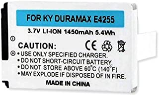 Kyocera Dura XT Cell Phone Battery (Li-Ion 3.7V 1450mAh) Rechargable Battery - Replacement For Kyocera SCP-43LBPS Cellphone Battery