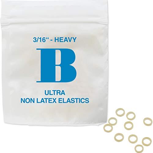 Patientenshop Intraorale Elastics latexfrei, Blau B, Stark 4,5 oz, Durchmesser 4,8 mm, 100 Stk Zahnspangen Gummis