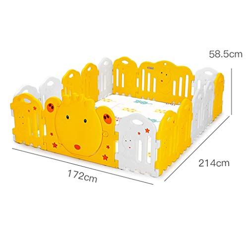 Fantastic Prices! PNFP Kids Baby Fence Playground Indoor with Slide, Multifunction Baby Playpen Todd...