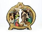 Crusanta Nacimiento Tronco, Hermosa decoración navideña, Decorada a Mano por Artistas Mexicanos, imán Misterio de Regalo, ENVÍO Gratis MÉXICO