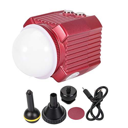 Demeras Linterna de Buceo, Luces sumergibles Linterna LED Luz de Flash de cámara Impermeable para Caminatas para entusiastas del Snorkel