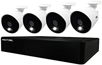 Night Owl CCTV Video Home Security Camera System with 4 Wired 4K Ultra HD Indoor/Outdoor Cameras with Night Vision (Expandable up to a Total of 12 Wired Cameras) and 1TB Hard Drive
