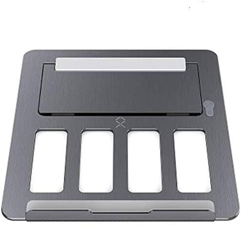 THBEIBEI 17 Inch Laptop Soporte General De Elevación Ajustable Y Plegable Cooling Base Simple Marco Portátil Anti-Cervical Aleación De Aluminio De Metal Portátil (Color : Gray)