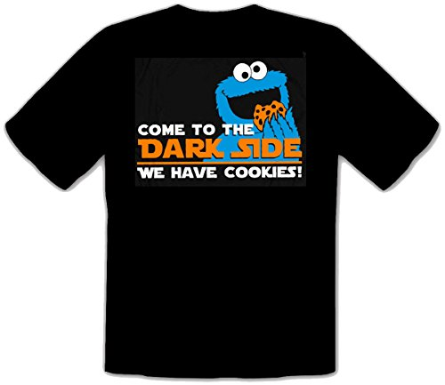 Come to The Dark Side Star we Have Cookies Krümelmonster Wars T-Shirt -195 (XL)