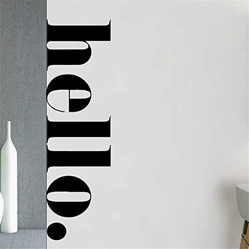 yiyiyaya Nordic Hallo Zitate Wandaufkleber Kunst Vinyl Für kinderzimmer Schlafzimmer dekor wandtattoo raumdekoration wandsticker tapete Kaffee M 42 cm X 12 cm