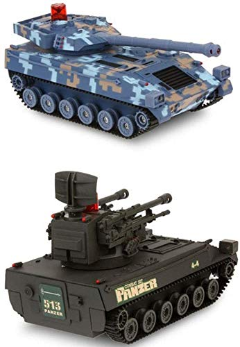 Zhangl RC 2.4g 1:14remote Control Car Battle Tank Remote Control Car Model Off-Road Vehicle Children's Toy Car Arm Toys for Boys Best Gifts for Christmas (Two Packs)