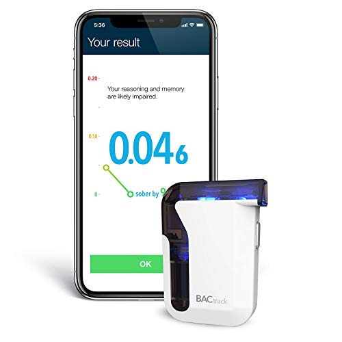 BACtrack Mobile Smartphone Breathalyzer   Professional-Grade Accuracy   Wireless Connectivity to Apple iPhone, Google & Samsung Android Devices   Apple HealthKit Integration