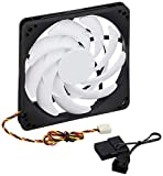 Silverstone SST-FN123 - FN Series Slim Computer Case Cooling Fan 120mm Slim, Low Noise, High Airflow, White-Black