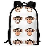 School Bags,Set Head Monkey Bookbag Favorable Laptop Bag 32cm(W) x42cm(H)