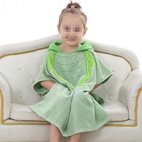 BESTSOON Peignoir à Capuche Serviette de Bain de Plage à Capuche pour Enfants/Enfants Polaire en Peluche légère pour Hommes (Couleur : Green Frog)
