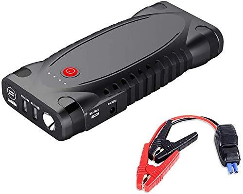 Metdek Cargador de batería de arranque para coche, potente cargador inteligente de emergencia, cargador de coche y arrancador portátil externo de 12000 mAh y 1500 A con doble carga USB.
