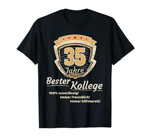 Aniversario de la empresa 35 años, regalo para el mejor compañero Camiseta