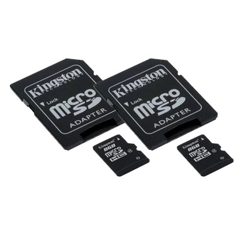 AEE AP10 Pro Quadcopter Drone Memory Card 2 x 8GB microSDHC Memory Card with SD Adapter (2 Pack)