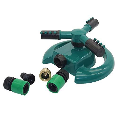 3 boquillas de tres brazos para manguera de jardín de riego automático de césped con rotación de 360 grados