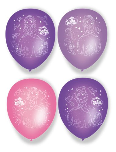 Amscan 27 cm Ballon Sofia First Party Accessoire, 6 stuks