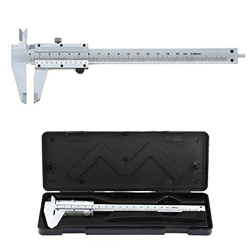 Pied à Coulisse Vernier Analogique en Acier Inoxydable 150mm / 0.02mm Haute Précision Outil Micromètre avec Mesure en Profondeur, Intérieur et Extérieur Professionnel