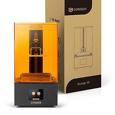 "LGT Longer Orange 10 SLA 3D Printer, LCD Resin 3D Printer with Upgraded Parallel UV LED Light, Fast Cooling System & Resume Printing, Off-line Printing, Build Size 3.86"" x 2.17"" x 5.5"", Metal"