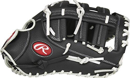 Rawlings Shut Out Series Fastpitch Softball First Base Glove, Single Post Double Bar Web, 13 inch, Right Hand Throw, RSOFBMBW-3/0