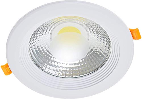 Jandei - Downlight LED COB redondo empotrar, 15W 1500 lúmenes (= bombilla 125W), luz blanca natural 4200K para salón, cocina, tienda, negocio, oficina