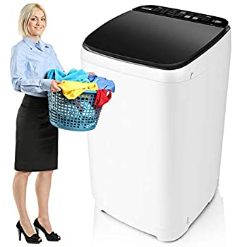 Full-Automatic Washer Machine Nictemaw Portable Washing Machine 1.48 Cu.ft/13.6Lbs Capacity Laundry Washer Spin Dryer 10 programs Selections with LED Display Ideal for Home/Apartments/Dorms/RV