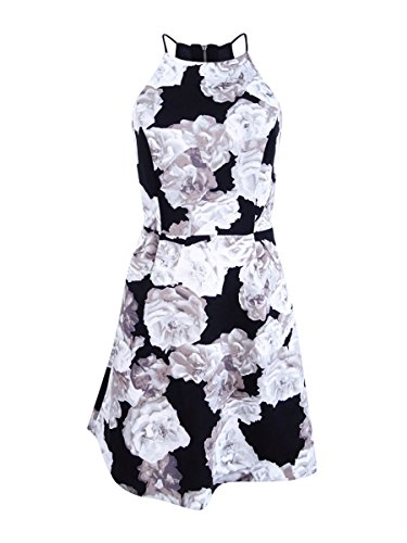 BCBGeneration Women's High Neck Dress, Black/White, 8