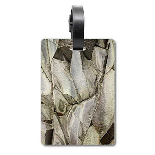 Fancy Stone Color Texture Crackles Cruise Suitcase Bag Tag Tourister Identification Label