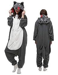 luyao188 Unisex Adult Pyjamas Halloween Costume One Piece Animal Cosplay Onesies