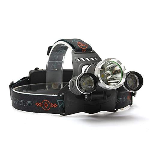 YYwl - Faro LED para cabeza, 3 modos, ajustable, banda elástica de aleación de aluminio, para caza, ciclismo, montañismo, camping