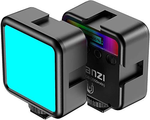 Mini Pocket 49 RGB Video LED Light, luz suave con batería incorporada de 2000 mAH, adsorción de imán + CRI > 95, montaje en zapata...
