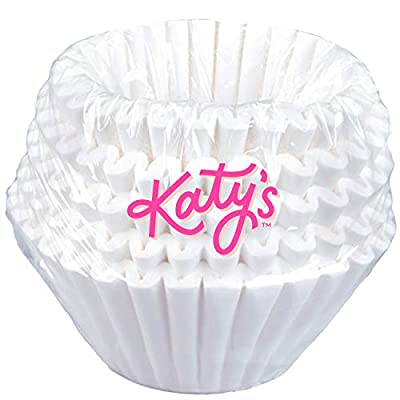 "KATY'S | Extra Large Coffee Filters (13"" x 5"") Eco-Friendly Commercial 1.5 to 3 Gallon BUNN Coffee & Tea Machine Filters for Restaurants, Cafes, and Extra Use (Bulk Pack)"