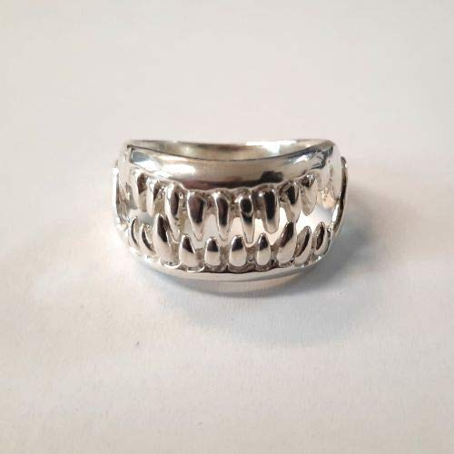 EXTRAVAGANT STERLING SILVER RING FLOWER SOLID 925 NEW