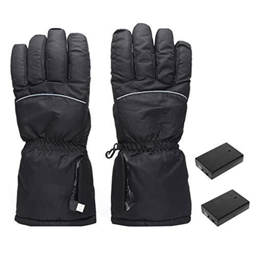 Gants chauffants chauffants de conijiwadi à écran tactile moto hiver gants chauds chauffe-mains pour femmes hommes