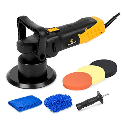 Buffer Polisher, 6 Inch Dual Action Polisher with Variable Speeds, Detachable Handles, Polising Pads for Car Polishing, Sanding, Waxing, C P CHANTPOWER