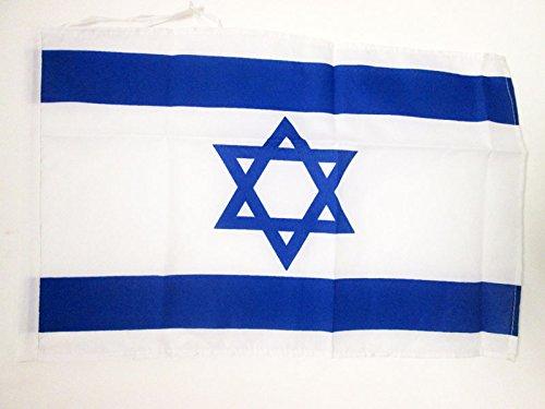 AZ FLAG Flagge Israel 45x30cm mit Kordel - ISRAELISCHE Fahne 30 x 45 cm - flaggen Top Qualität