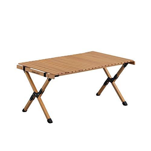 LandField ランドフィールド 木製レジャーテーブル 幅90cm 折りたたみ ロールテーブル 木製 LF-LT090