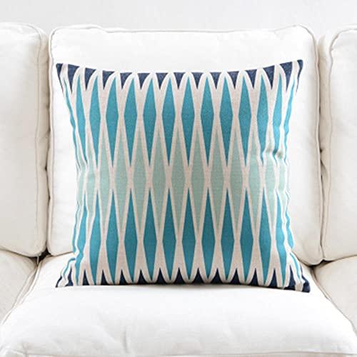 Fundas de Cojín Funda de cojín Estampada geométrica Colorida de Estilo a la Moda cojín Decorativo para sofá Silla de Coche Funda de Almohada Decorativa para el hogar Cojines