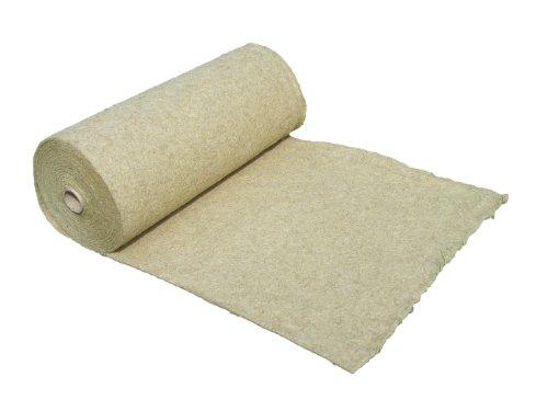 Tapis de protection contre les mauvaises herbes en fibre de chanvre, vendu au mètre (EUR 9,27 /m²), 1200g/m², 1 x 15 m, env. 1 cm d'épaisseur, tapis de protection des plantes, tapis de protection pour l'hiver, tapis de revêtement à base de compost, 100 % biodégradable, qualité des aliments