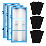 YONGCHAO Replacement Filters Fit for Holmes AER1 HAPF30AT HAP242-NUC HEPA Type Total Air Filter, 3 HEPA + 9 Carbon Booster Filters (Color : Blue White Black)