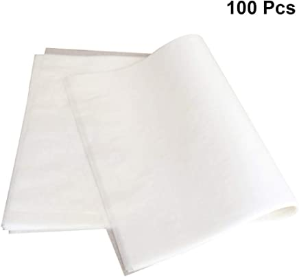 BESTONZON 100pcs Greaseproof Paper Sheets Non Stick Parchment Baking Paper Cake Pan Cookie Sheet Liner