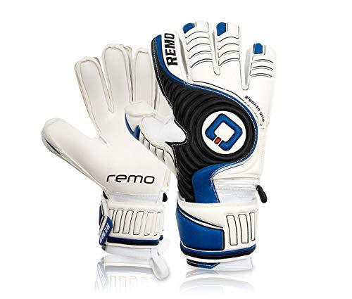 REMO Sports Giganto Fingersave Latex Torwarthandschuhe (blau, 9)