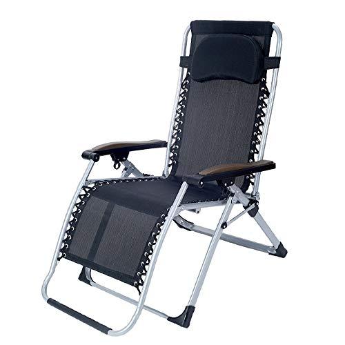 YLCJ Klappstuhl Liegestuhl Verstellbare Mittagspause Tragbarer Balkon Garten Fauler Stuhl Freizeit Bambusstuhl Zusammenklappbar (Farbe: A)