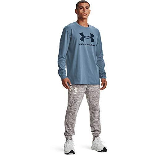 Under Armour Men's Sportstyle Logo Long-Sleeve T-Shirt , Washed Blue (420)/Academy Blue , Large