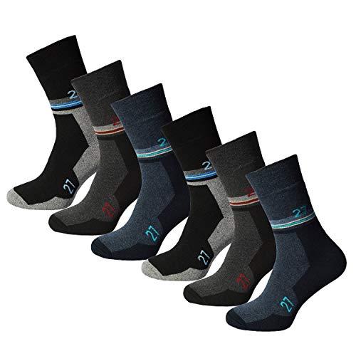 6 Paar Herren Thermosocken Diabetiker geeignet Vollfrottee ohne Gummi mit Innenfrotteè Wintersocken Thermo Socken Thermostrümpfe 39-42