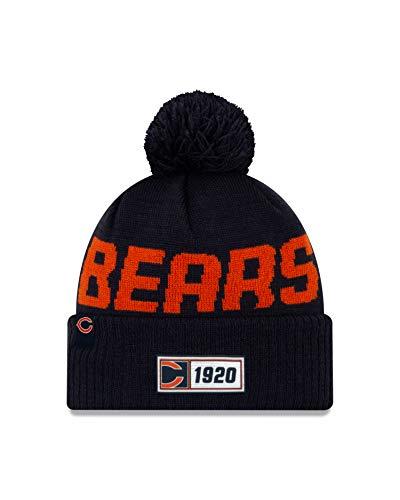 New Era Gorro de Punto para Hombre Chicago Bears, Color Azul Marino,...