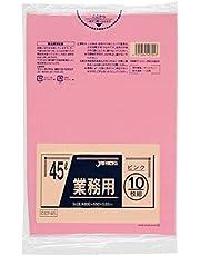 ジャパックス スタンダードポリ袋 カラータイプ 45L ピンク CCP45