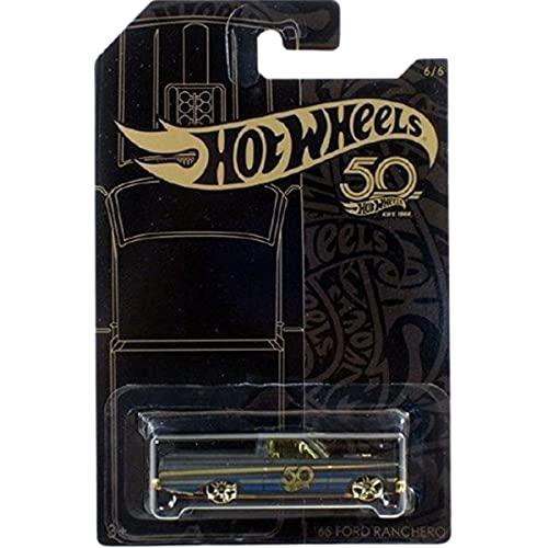 Hot Wheels \'66 Ford Ranchero 50th Anniversary Black and Gold 6/6 2018 Long Card…