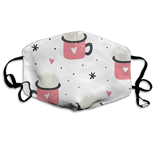 Dnwha Polyester Masker, Bubble In Pink Love Cup, stofdicht masker, met knoppen om de dichtheid aan te passen, geschikt voor iedereen